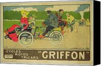 Biking Canvas Prints - Vintage poster Bicycle Advertisement Canvas Print by Walter Thor