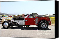 Old Trucks Canvas Prints - Vintage Reserve Fire Engine . 7D15324 Canvas Print by Wingsdomain Art and Photography
