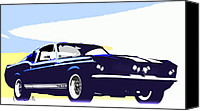 American Canvas Prints - Vintage Shelby GT500 Canvas Print by Bob Orsillo