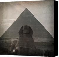 Ruin Photo Canvas Prints - Vintage Sphinx Canvas Print by Jane Rix