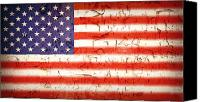 Peeling Canvas Prints - Vintage Stars and Stripes Canvas Print by Jane Rix