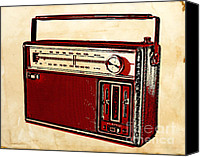 Dial Photo Canvas Prints - Vintage Transistor Radio Canvas Print by Igor Kislev