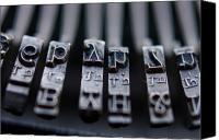 Typewriter Keys Photo Canvas Prints - Vintage Typewriter Keys Canvas Print by June Marie Sobrito