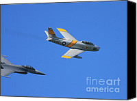 Us Navy Fighters Canvas Prints - Vintage US Air Force Jet Fighter In Flight . 40D2275 Canvas Print by Wingsdomain Art and Photography