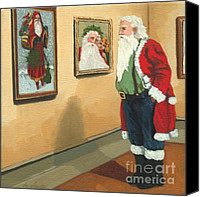 Linda Apple Canvas Prints - Vintage Victorian - Museum Santa Canvas Print by Linda Apple
