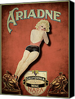 Advertising Canvas Prints - Vintage Wine Ad II Canvas Print by Cinema Photography