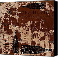Bordeaux Canvas Prints - Vintage Wine Canvas Print by Frank Tschakert