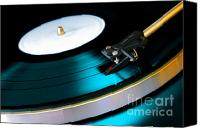 Background Canvas Prints - Vinyl Record Canvas Print by Carlos Caetano