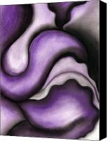 Sensual Pastels Canvas Prints - Violet 1 Canvas Print by Bonnie Kelso