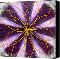 Mystical Canvas Prints - Violet Chakra Canvas Print by Anne Cameron Cutri