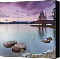 Dam Canvas Prints - Violet dusk Canvas Print by Evgeni Dinev
