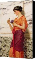 Toga Canvas Prints - Violets Canvas Print by John William Godward