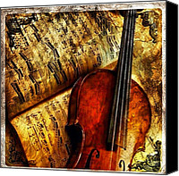 Violin Canvas Prints - #violin #amazing #music #old #play Canvas Print by Hannah Helmer
