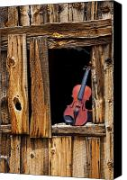 Ghost Canvas Prints - Violin in window Canvas Print by Garry Gay