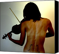 Gorgeous Women Canvas Prints - Violin Intensive Canvas Print by Steven  Digman