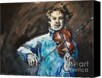 Justice Painting Canvas Prints - Violinist1 Canvas Print by Denise Justice