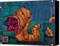 Joe Dragt Canvas Prints - Viral Worm Canvas Print by Joe Dragt