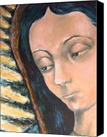 Virgen De Guadalupe Canvas Prints - Virgen De Guadalupe Canvas Print by DEVARAJ DanielFranco