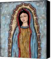 Virgen De Guadalupe Canvas Prints - Virgen De Guadalupe Canvas Print by Rain Ririn