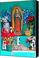 Virgen De Guadalupe Canvas Prints - Virgen de Guadalupe Shrine Canvas Print by Alwin  Van der Heiden