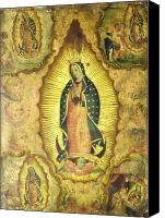 Virgen De Guadalupe Canvas Prints - Virgen de Guadalupe Canvas Print by Unknown