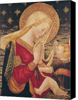 Virgin Mary Painting Canvas Prints - Virgin and Child  Canvas Print by Neri di Bicci