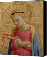 Annunciation Canvas Prints - Virgin Annunciate Canvas Print by Fra Angelico