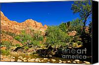 Desert Canvas Prints - Virgin River Canvas Print by Greg Norrell