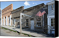 Montana Digital Art Canvas Prints - Virginia City Ghost Town - Montana Canvas Print by Daniel Hagerman