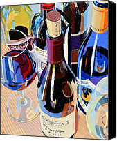 Red Wine Canvas Prints - Virginia Selections Number One Canvas Print by Christopher Mize