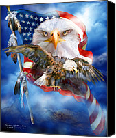 Bald Eagle Canvas Prints - Vision Of Freedom Canvas Print by Carol Cavalaris