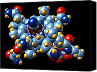 Complex Canvas Prints - Vitamin B12 (cyanocobalamin) Molecule Canvas Print by Dr Mark J. Winter