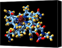Complex Canvas Prints - Vitamin B12, Molecular Model Canvas Print by Dr Mark J. Winter