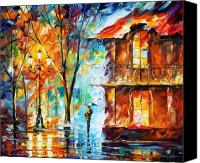 Architecture Painting Canvas Prints - Vitebsk Canvas Print by Leonid Afremov