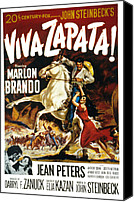 1950s Poster Art Canvas Prints - Viva Zapata, Marlon Brando, Jean Canvas Print by Everett