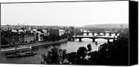 Vltava Canvas Prints - Vltava River At Prag Canvas Print by Jrg Wendland