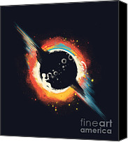 Black Hole Canvas Prints - Void Canvas Print by Budi Satria Kwan
