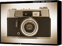 Rangefinder Canvas Prints - Voigtlander Rangefinder Camera Canvas Print by Mike McGlothlen