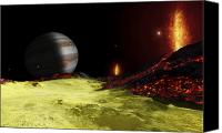 Volcanic Activity Canvas Prints - Volcanic Activity On Jupiters Moon Io Canvas Print by Fahad Sulehria