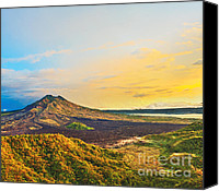 Mountain View Canvas Prints - Volcano Batur Canvas Print by MotHaiBaPhoto Prints