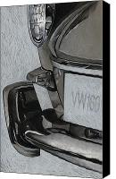 Abstract View Canvas Prints - Volkswagen 1600 Canvas Print by David Kleinsasser
