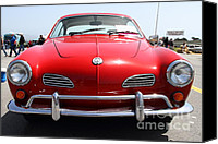 Convertibles Canvas Prints - Volkswagon Karmann Ghia . 7D15468 Canvas Print by Wingsdomain Art and Photography