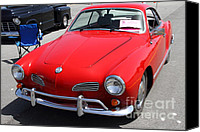 Convertibles Canvas Prints - Volkswagon Karmann Ghia . 7D15470 Canvas Print by Wingsdomain Art and Photography