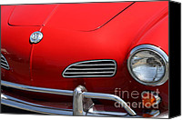 Convertibles Canvas Prints - Volkswagon Karmann Ghia . 7D15471 Canvas Print by Wingsdomain Art and Photography