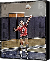 Serve Photo Canvas Prints - Volleyball Girl Canvas Print by Kelley King