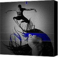 Dancing Digital Art Canvas Prints - Voyage Canvas Print by Irina  March