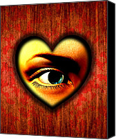Delusion Canvas Prints - Voyeurism, Conceptual Artwork Canvas Print by Stephen Wood