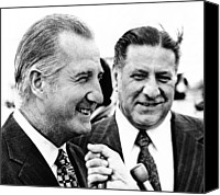 Agnew Canvas Prints - Vp Spiro Agnew With Mayor Frank Rizzo Canvas Print by Everett