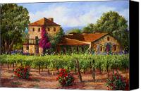 Napa Valley Canvas Prints - V.Sattui  Winery Revisited Canvas Print by Gail Salituri