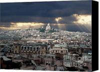 Worth Canvas Prints - Vue de la Butte Montmartre.Roofs of Paris Canvas Print by Bernard Jaubert